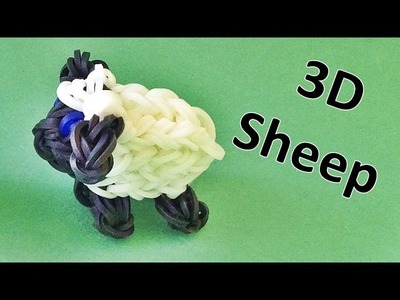 Rainbow Loom: 3D Sheep Rainbow Loom Charm || Loom bands instructions, How To Make