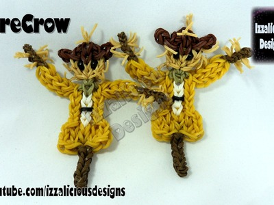 Rainbow Loom (Thanksgiving.Harvest) ScareCrow Action Figure.Doll.Charm -