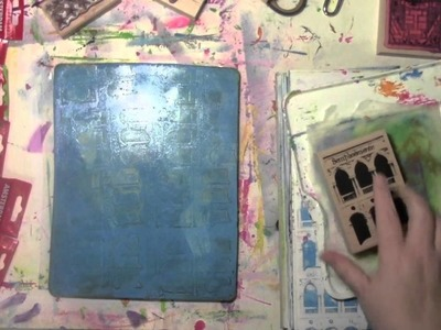 Rubber Stamps and the Gelli Plate with Carolyn Dube