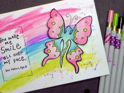 Stamp School #5: 3 Ways with Watercolor Pencils!