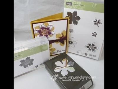 Stampin'101 mounting Beautiful Bunch stamp to match Punch