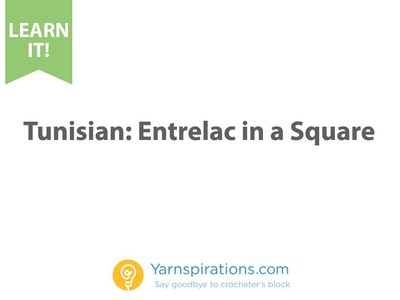 Tunisian: How to make an Entrelac Square