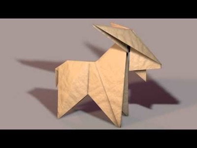 3D Paper Origami Goat