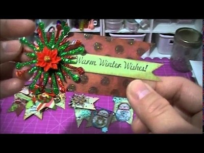 Altered Paper Clips, Christmas Cards, and Gift Card Holders