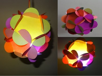 Christmas Crafts: 3D Paper Ball Lantern