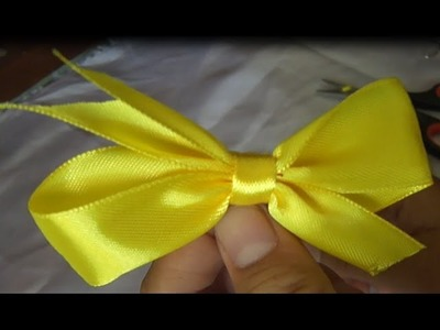DIY-cara membuat pin kupu-kupu dari pita-how to make a butterfly pin from the ribbon