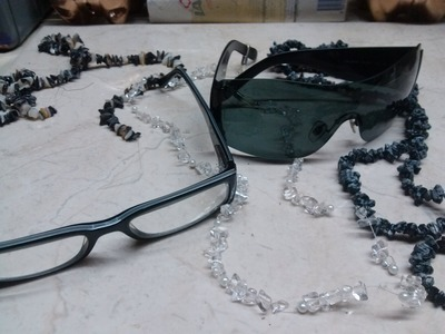 DIY Collar para lentes.gafas- Necklace sunglasses