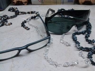 DIY Collar para lentes.gafas- Necklace sunglasses