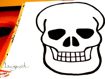 DIY How to draw a SKULL real Easy for Kids with pencil | draw easy stuff.things but cool | SPEED ART