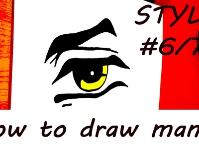 DIY How to draw easy stuff.things but cool on paper: draw MANGA Eyes with pencil EASY | SPEEDY #6.7
