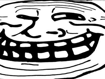 DIY How to draw Meme Faces Step by Step - Memes: draw a TROLL FACE EASY on paper with pencil