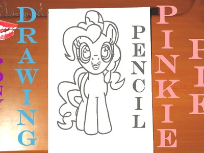 DIY How to draw PINKIE PIE from MY LITTLE PONY Easy, draw easy stuff but cool, PENCIL | SPEED ART