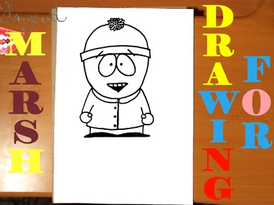 DIY How to draw STAN MARSH from SOUTH PARK characters Easy, draw easy stuff but cool | SPEED ART