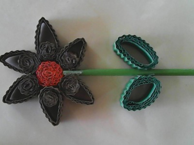 DIY-membuat bunga sederhana dari kertas kardus-how to make a simple flower of cardboard