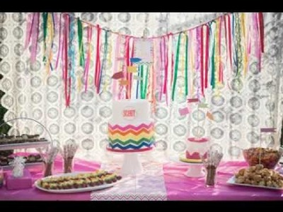DIY Rainbow birthday party decorating ideas
