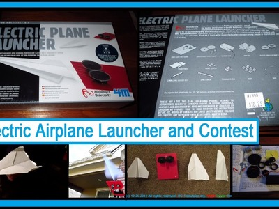 Electric Paper Airplane Launcher and Contest by NightFlyyer.