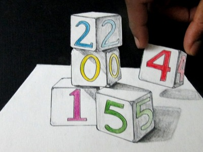 How To Draw 3D Cubes. Anamorphic Illusion. 3D Art On Paper