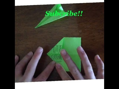 How to make a paper airplane out of a sticky note