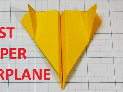 How to make a Paper Airplane that Flies Far  - Best Paper Planes in the World