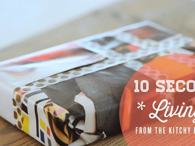 How to Wrap a Gift without Wrapping Paper. 10 Second Living