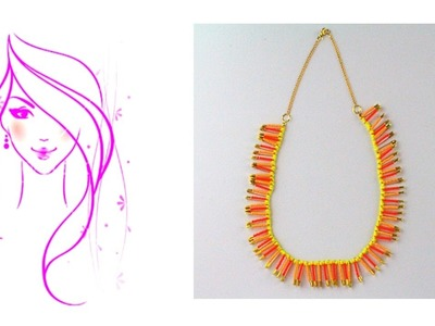 MORENA DIY: HOW TO MAKE YELLOW & ORANGE NECKLACE
