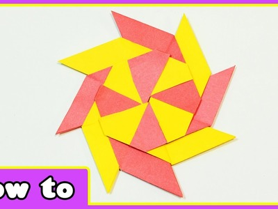 Paper Crafts | Transforming Ninja Star | DIY Crafts Ideas for Kids with Paper by HooplaKidz How To
