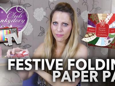 Paper Folding Card using Hunkydory Festive Folding Project Pad