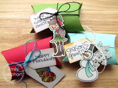 {Paper Smooches} Quick & Easy Holiday Tags and Treat Boxes