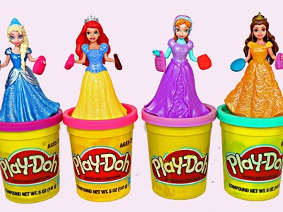 Play Doh Frozen Videos - Play Doh Frozen Sparkling Magnetic Paper Dolls Princess Anna and Elsa
