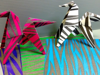 Print Your Own Zebra Print Origami Paper