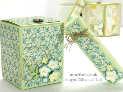 2 boxes from one sheet of Cardstock Tutorial