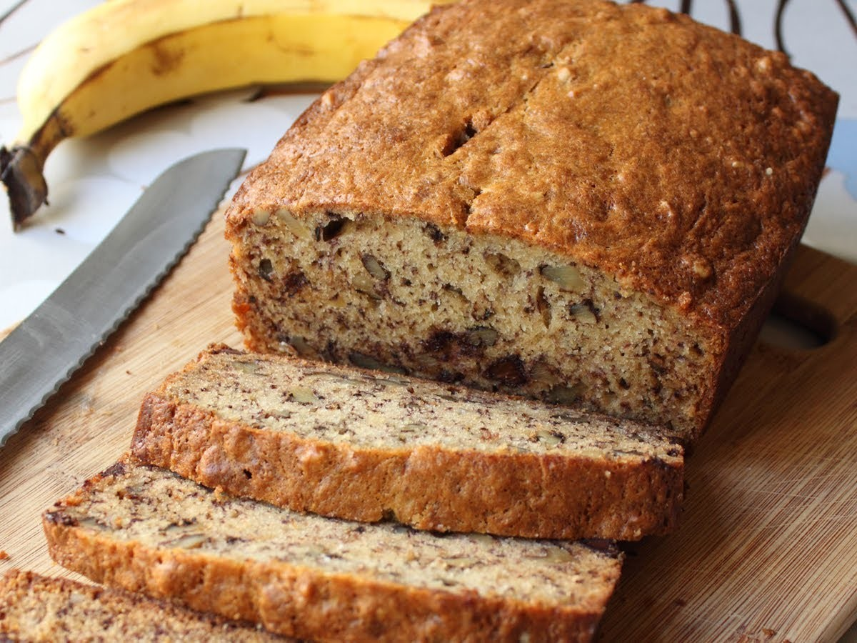 Banana Bread Recipe - Chocolate Banana Nut Loaf