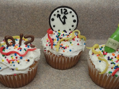 Decorating Cupcakes #82: New Year's Eve Trio