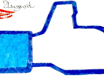 DIY How to draw The Facebook LIKE Logo Step By Step Easy, draw easy stuff.things but cool on paper