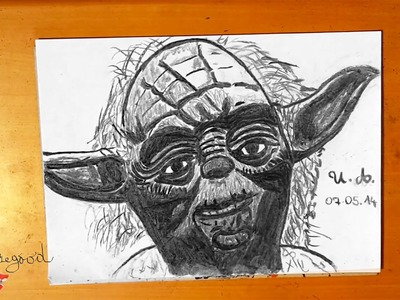 DIY How to draw YODA easy from STAR WARS - draw easy stuff but cool 3D on paper, SPEEDY