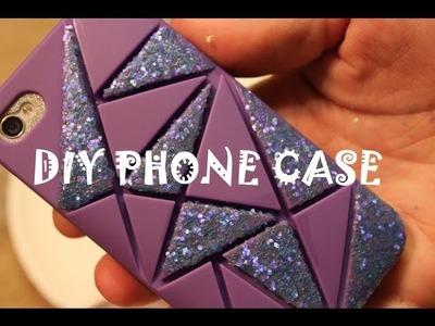 DIY: Iphone glitter case!