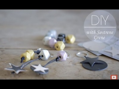 DIY: Keychain with stars of leather by Søstrene Grene
