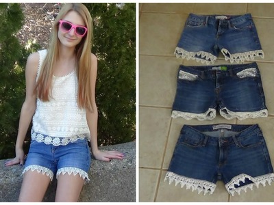 DIY Lace Trim Shorts!