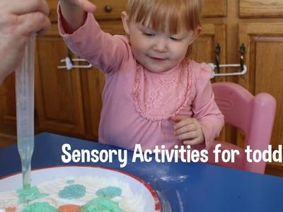 DIY Sensory Activites w.your toddler! Motor skills!