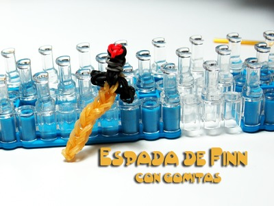 Espada de Finn con gomitas (Finn´s Golden Sword) Adventure time rainbow loom