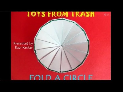 Fold a Circle | Telugu | Maths with Paper Folding