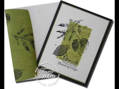 """Gorgeous """"faux layer"""" Leaves Card featuring Stampin' Up! products WOW"""