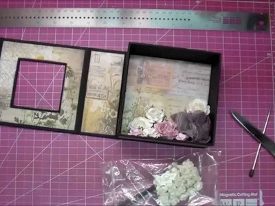Graphic 45 Mixed Media Box w Tim Holtz Wallflower Paper
