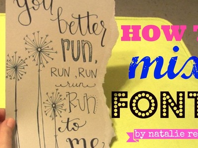 Hand Lettering Tutorial: How to Mix Fonts