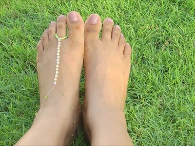 How To: D.I.Y Foot Thong. Elegant Bare Foot Sandals - II