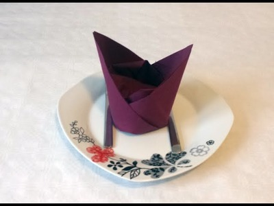 How to do paper napkin folding 13