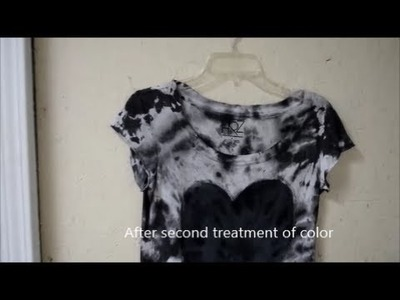 How to Hide Permanent Stains-Quick & Easy Tie Dye with Acrylic Paint - DIY Style