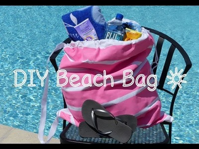 How To Make A Cute Beach Bag | DIY Beach Tote Bag