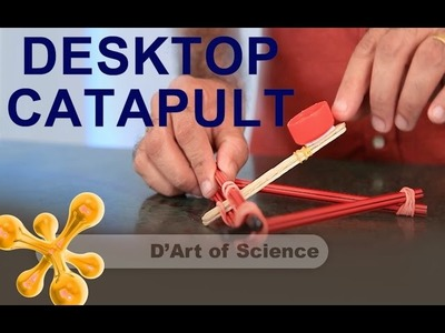 How to Make a desktop Catapult - Cool DIY Science - potential energy - dartofscience