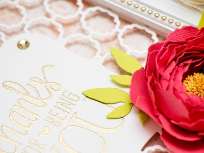 How to make a paper peony using Spellbinders Dies